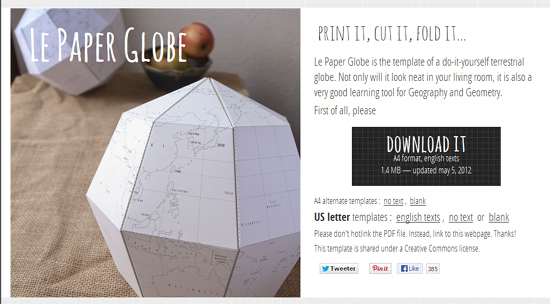 Le Paper Globe Is A Transmutation Of The Original
