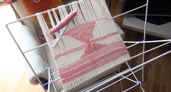 Loom with weaving