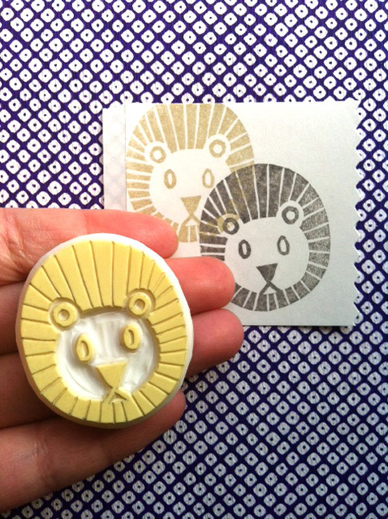 Talk to the Sun Lion stamp