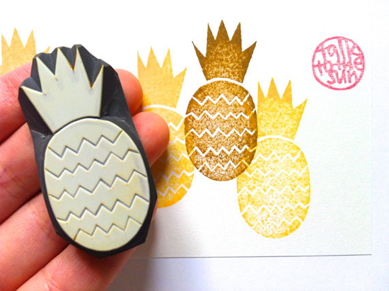 Talk to the Sun Pineapple stamp