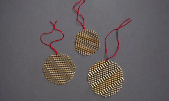 Brass circle ornaments