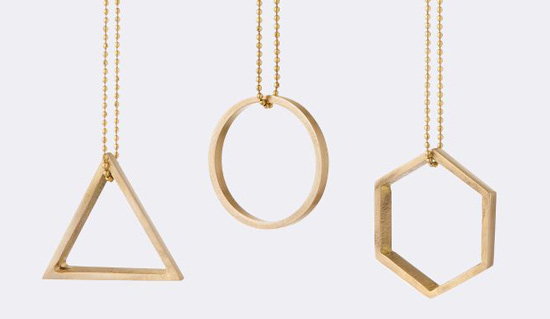 Ferm Living brass ornaments