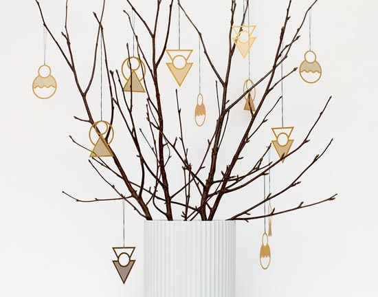 Kristina Krogh brass ornaments