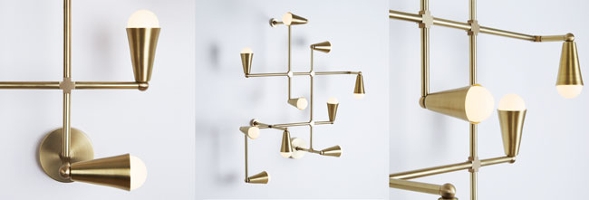 Lightmaker Studio Zig-Zag wall light