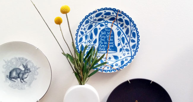 DIY Kintsugi fixed plate on wall